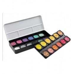 Set 24 pearlscent Kalligrafie/Aquarel/Grafiek