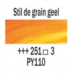 Olieverf 15 ml Stil de grain geel