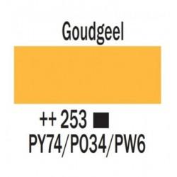Acryl 250 ml Tube Goudgeel