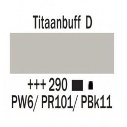 Acryl 250 ml Tube Titaanbuff donker
