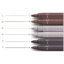 UNI-PIN fineliner 0.1 dark grey