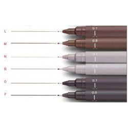 UNI-PIN fineliner 0.5 light grey
